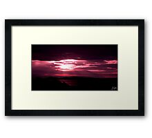 Sunrise in Talmine, Highlands Framed Print