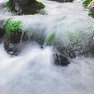 Water Rolling Over Rocks by Sue Fallon Photography