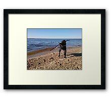 Raymond Island and Mack. Framed Print