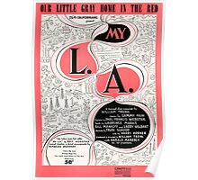 OUR LITTLE GRAY HOME IN THE RED  (vintage illustration) Poster