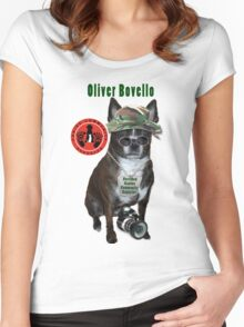 Oliver Bovello, Canine Community Reporter-Travel Women's Fitted Scoop T-Shirt