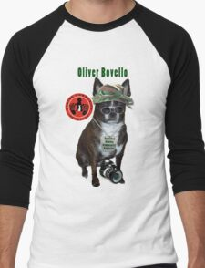 Oliver Bovello, Canine Community Reporter-Travel Men's Baseball ¾ T-Shirt