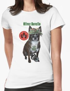 Oliver Bovello, Canine Community Reporter-Travel Womens Fitted T-Shirt