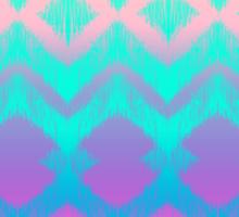 Rainbow Ikat Pattern Sticker