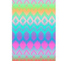 Rainbow Ikat Pattern Photographic Print