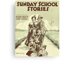 SUNDAY SCHOOL STORIES (vintage illustration) Canvas Print