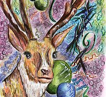 The Majestic Stag by Jenna Michelle Pink