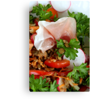 Lentil  Salad With Country Bacon Canvas Print