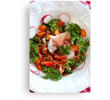 Lentil  Salad With Country Bacon II Canvas Print