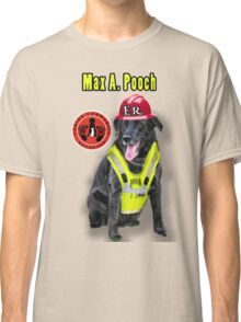 Max A. Pooch-Canine Community Reporter-Environmental Classic T-Shirt