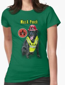 Max A. Pooch-Canine Community Reporter-Environmental Womens Fitted T-Shirt