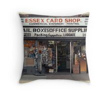 Essex Card Shop in NYC - Kodachrome Postcard  Throw Pillow