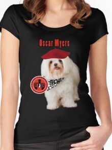 Oscar Myers, Canine Community Reporter-Travel Women's Fitted Scoop T-Shirt