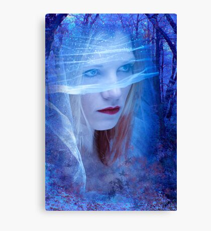 Blue Bride Canvas Print