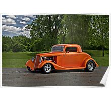 1934 Ford Coupe Hot Rod Poster