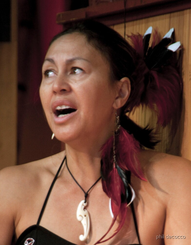 Haka Songstress by phil decocco