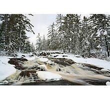 Cataract Dam Falls in Winter Photographic Print