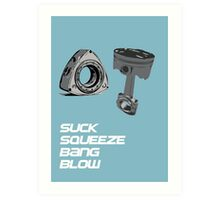 Mazda RX7 Rotary Piston Suck Squeeze Bang Blow Art Print