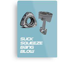 Mazda RX7 Rotary Piston Suck Squeeze Bang Blow Metal Print