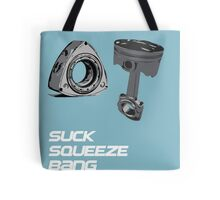 Mazda RX7 Rotary Piston Suck Squeeze Bang Blow Tote Bag