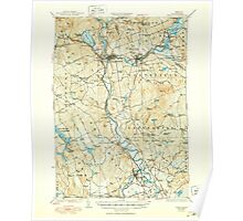 USGS TOPO Map New Hampshire NH Penacook 330287 1927 62500 Poster