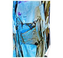 Tattered Paper on a Bulletin Board No. 1045 Poster