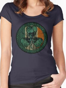 Skull Shamrock Women's Fitted Scoop T-Shirt
