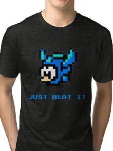 Just Beat It- Megaman 6 Tri-blend T-Shirt