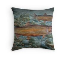Steelhead Trout Migration in Fall Throw Pillow