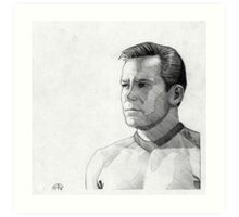 Captain James T. Kirk Art Print