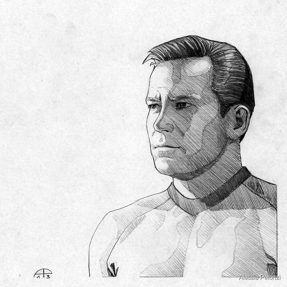 Captain James T. Kirk by Alessia Pelonzi