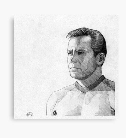 Captain James T. Kirk Canvas Print