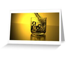 Gold Glass Greeting Card