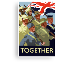 Together -- British Empire WWII Canvas Print