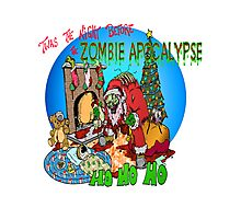 Merry Zombified Christmas Photographic Print