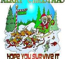 Zombie Santa is here by Skree