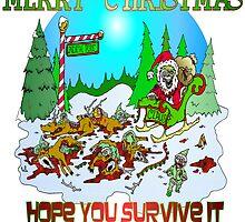 Zombie Santa is here by Skree
