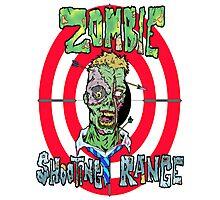 Zombie Shooting Range Logo Photographic Print