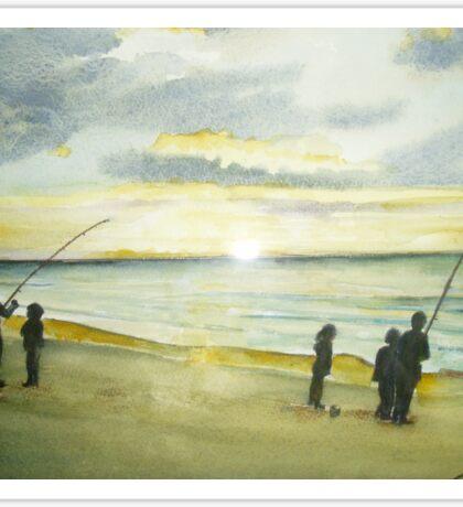 Sunrise at Reeves Beach Sticker