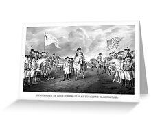 Surrender Of Lord Cornwallis At Yorktown Greeting Card