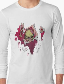 Zombie coming through Long Sleeve T-Shirt
