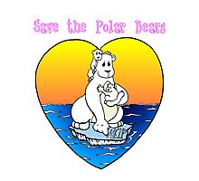 Save the Polar Bears Photographic Print