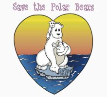 Save the Polar Bears Kids Tee