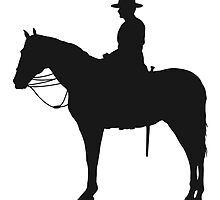 Canadian Mountie Silhouette by Maria Bell