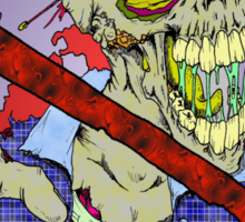No Zombies Sticker
