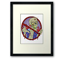 No Zombies Framed Print