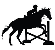 Horse Jumping Silhouette by Maria Bell
