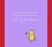 Winnie the Pooh Iphone Case (Purple) by wabbzy