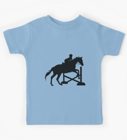 Horse Jumping Silhouette Kids Tee