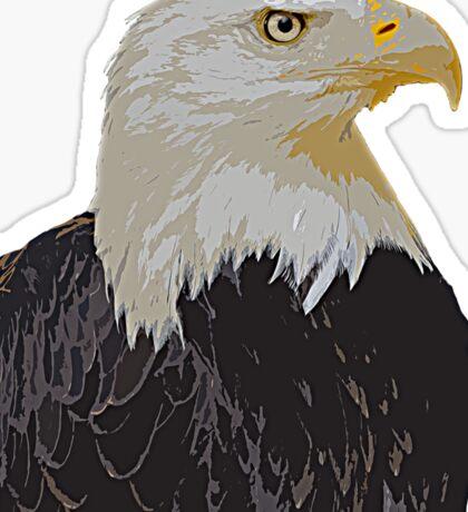 Mr. Bald Eagle Sticker